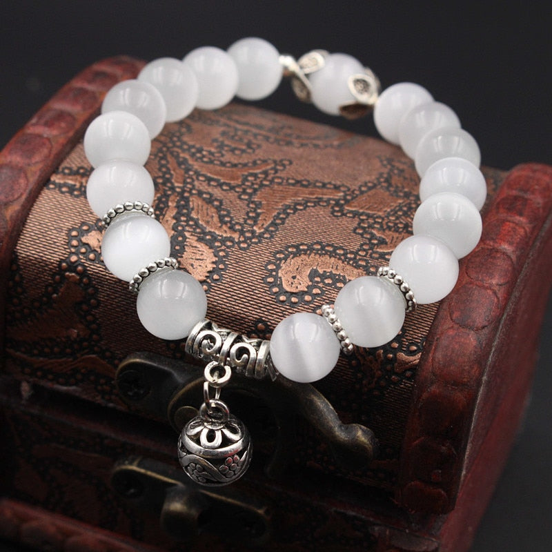 Opal Bone Cancer Awareness Bracelet