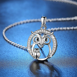 Mother and Daughter Owl Necklace