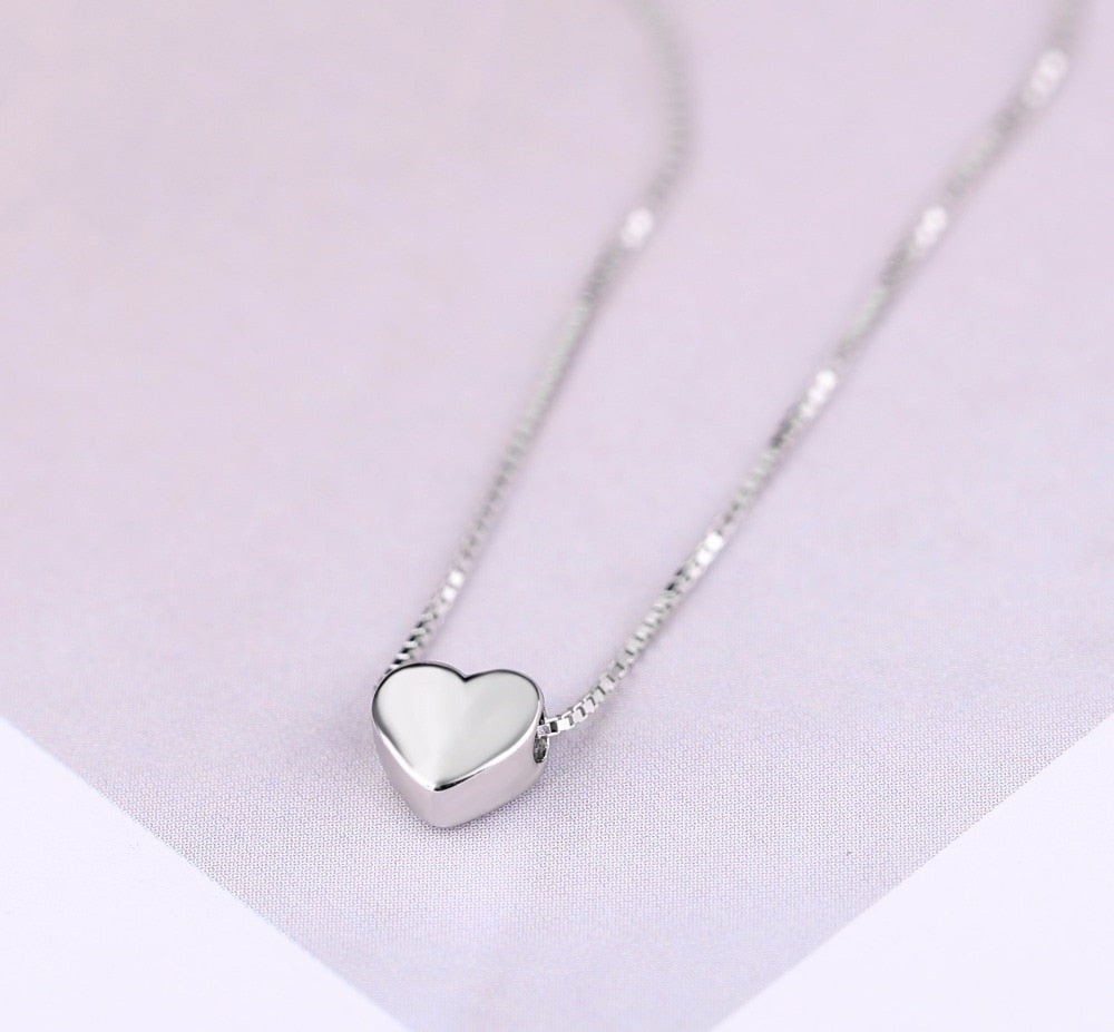 Heart Sterling Silver Chain Necklace