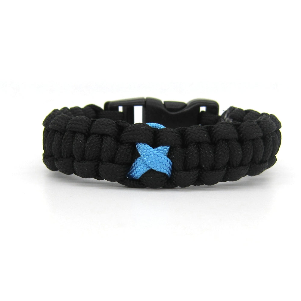 Blue Ribbon Paracord Bracelet