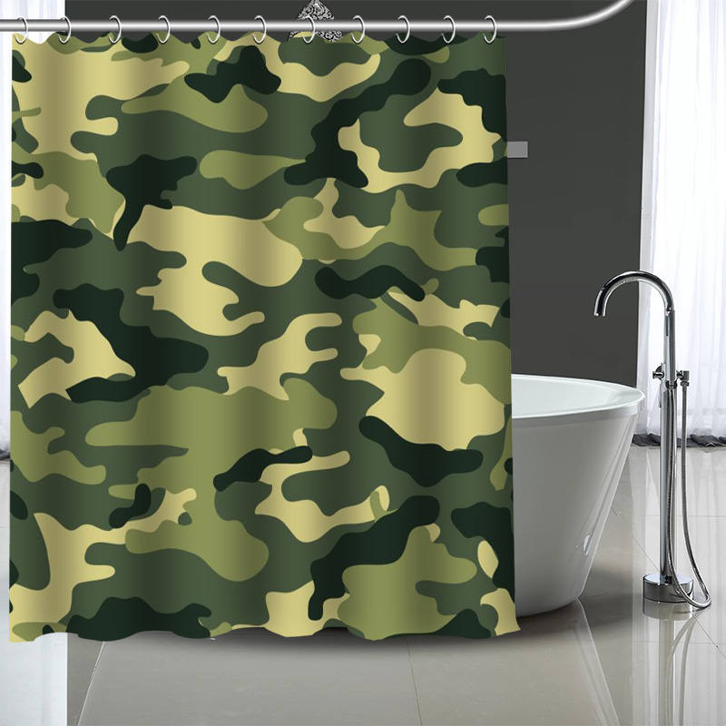 Camouflage Print Shower Curtain