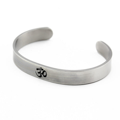 OM Stainless Steel Cuff Bangle
