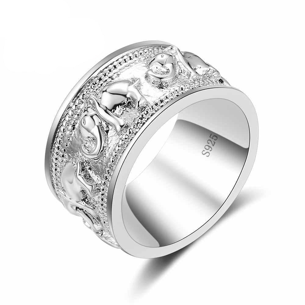 Elephant Silver Ring