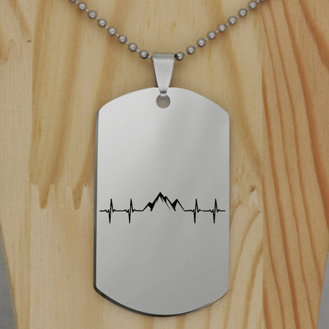 Heartbeat Mountain EMS Dog Tag Necklace