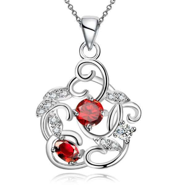 Elegant Red Crystal Necklace