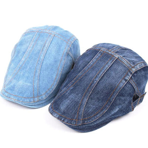 Denim Beret Hat