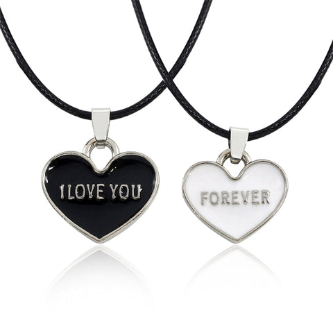 I Love You Forever Heart Necklace Set