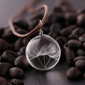 Glow In The Dark Dandelion Seed Pendant