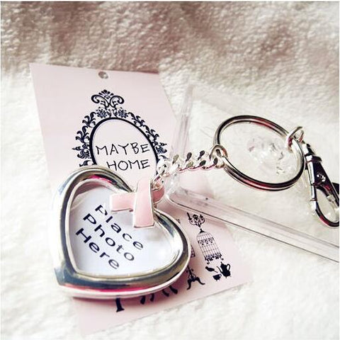 Picture Frame Breast Cancer Awareness Keychain