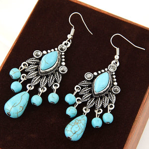 Hoard Teal Fruits Earrings