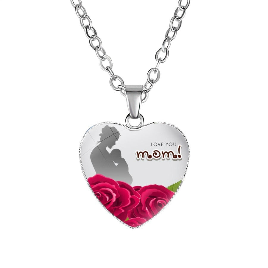 MOM Silver Chain Necklace