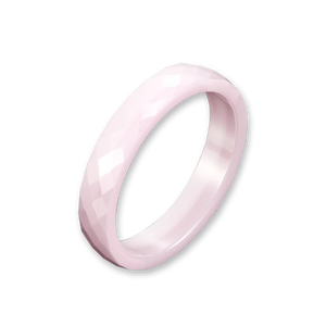 Pink Ceramic Breast Cancer Awareness Ring