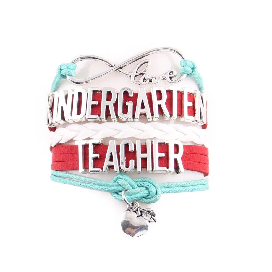 Kindergarten Teacher Support Infinity Bracelet