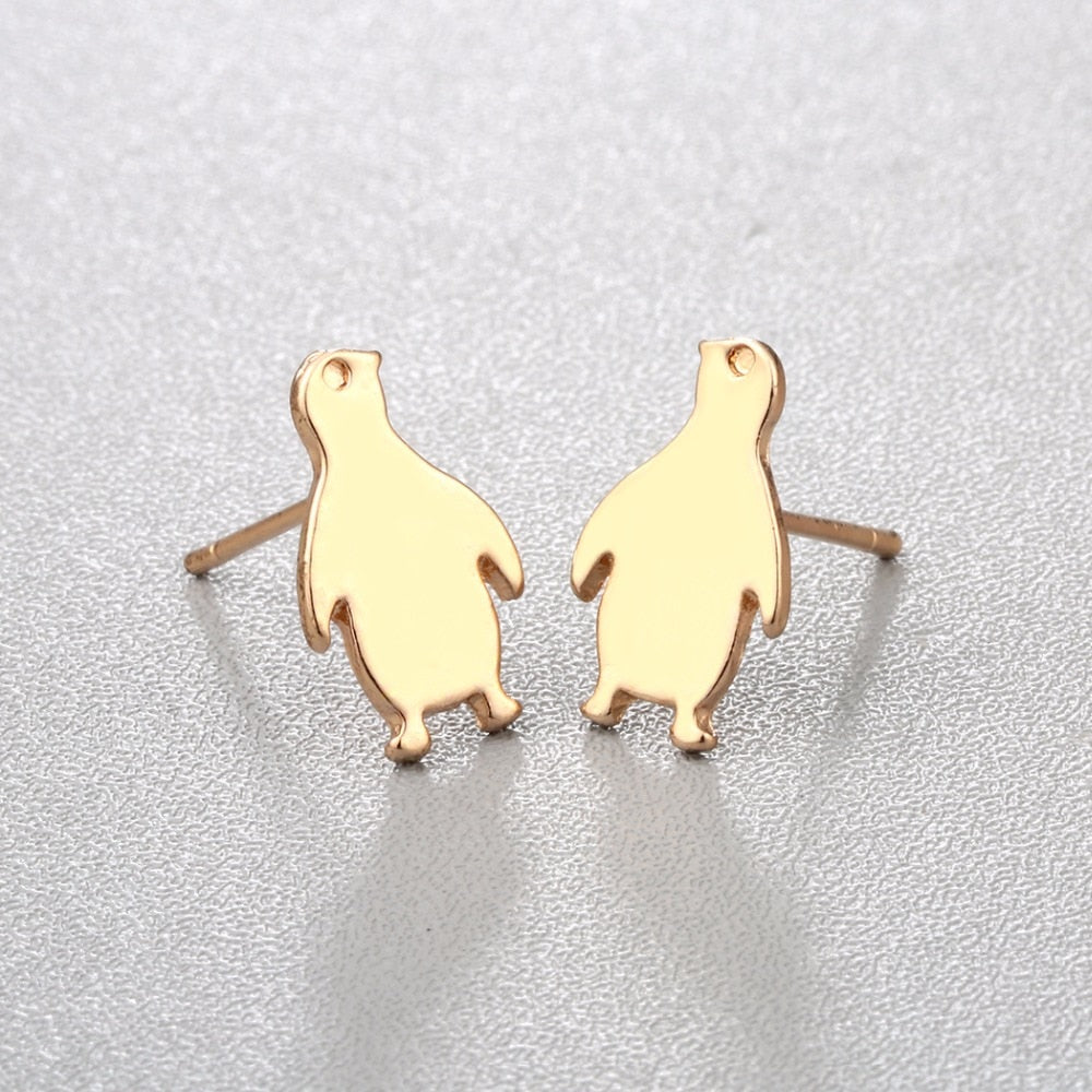Simple Penguin Earrings