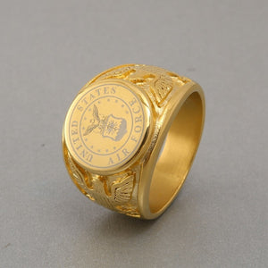 Gold Air Force Emblem Ring