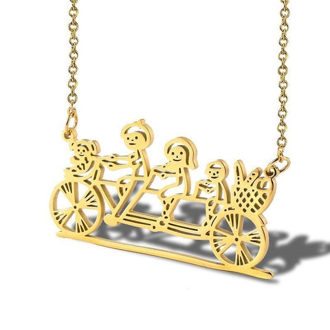 Family Bike Necklace