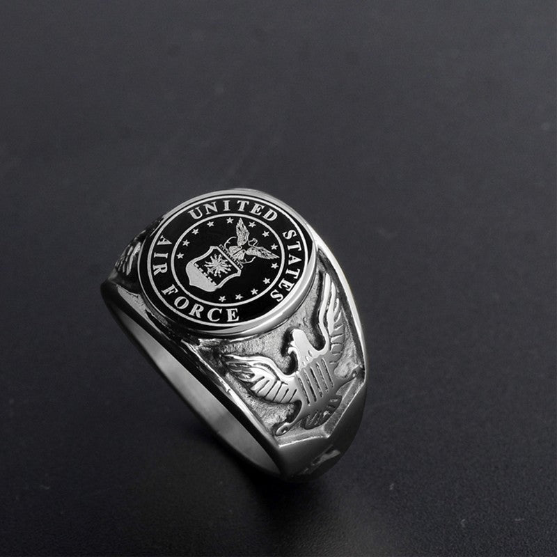 Silver Air Force Signet Ring Aspire Gear