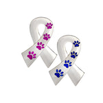 Dog Rescue Awareness Ribbon Brooch Pin