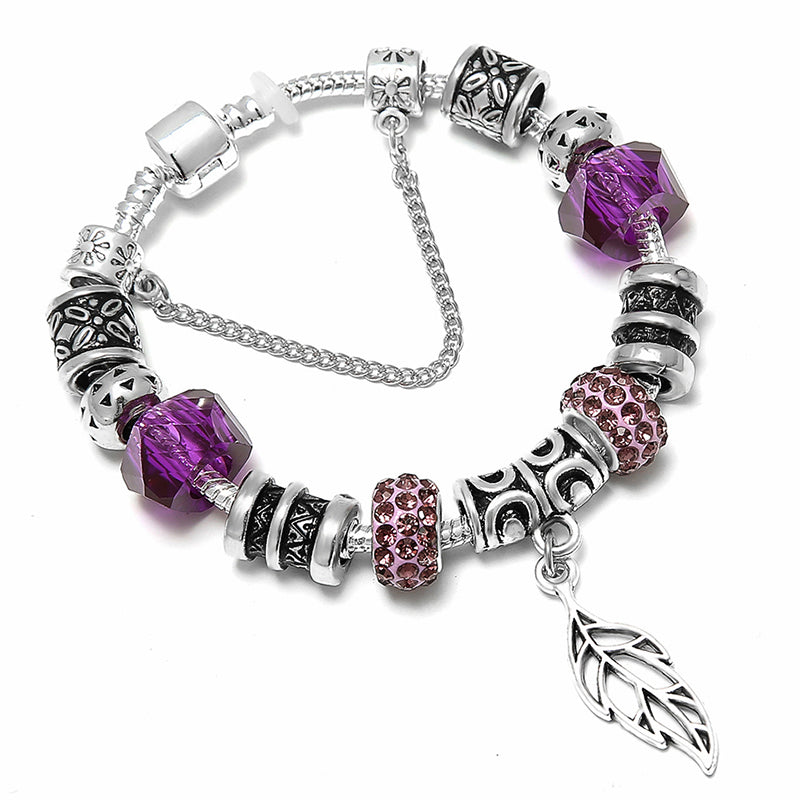 Crystal Pancreatic Cancer Awareness Bracelet
