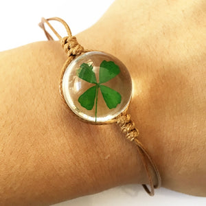 Lucky Four-Leaf Clover Friendship Bracelet