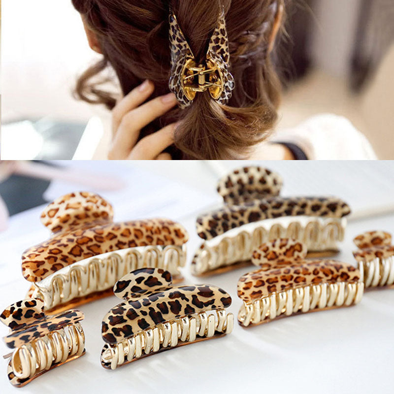 Leopard Claw Clip