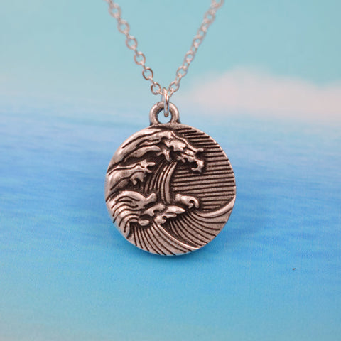 Vintage Wave Surfer Necklace Offer
