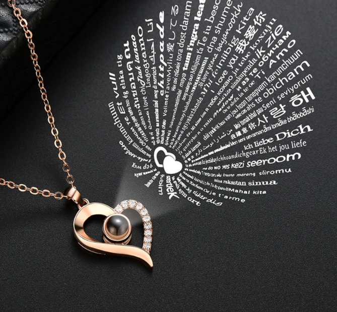 Projection Pendant Heart Necklace