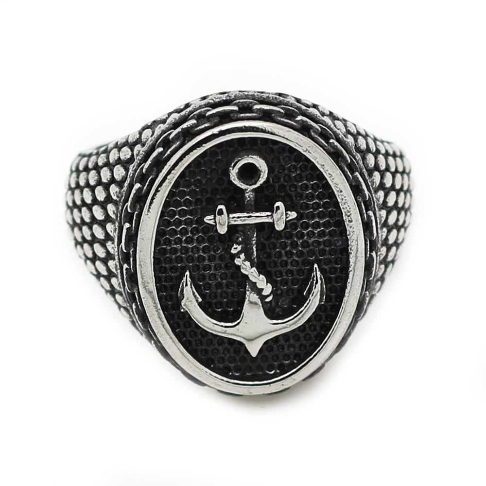 Stainless Steel Scale Navy Support Anchor Ring