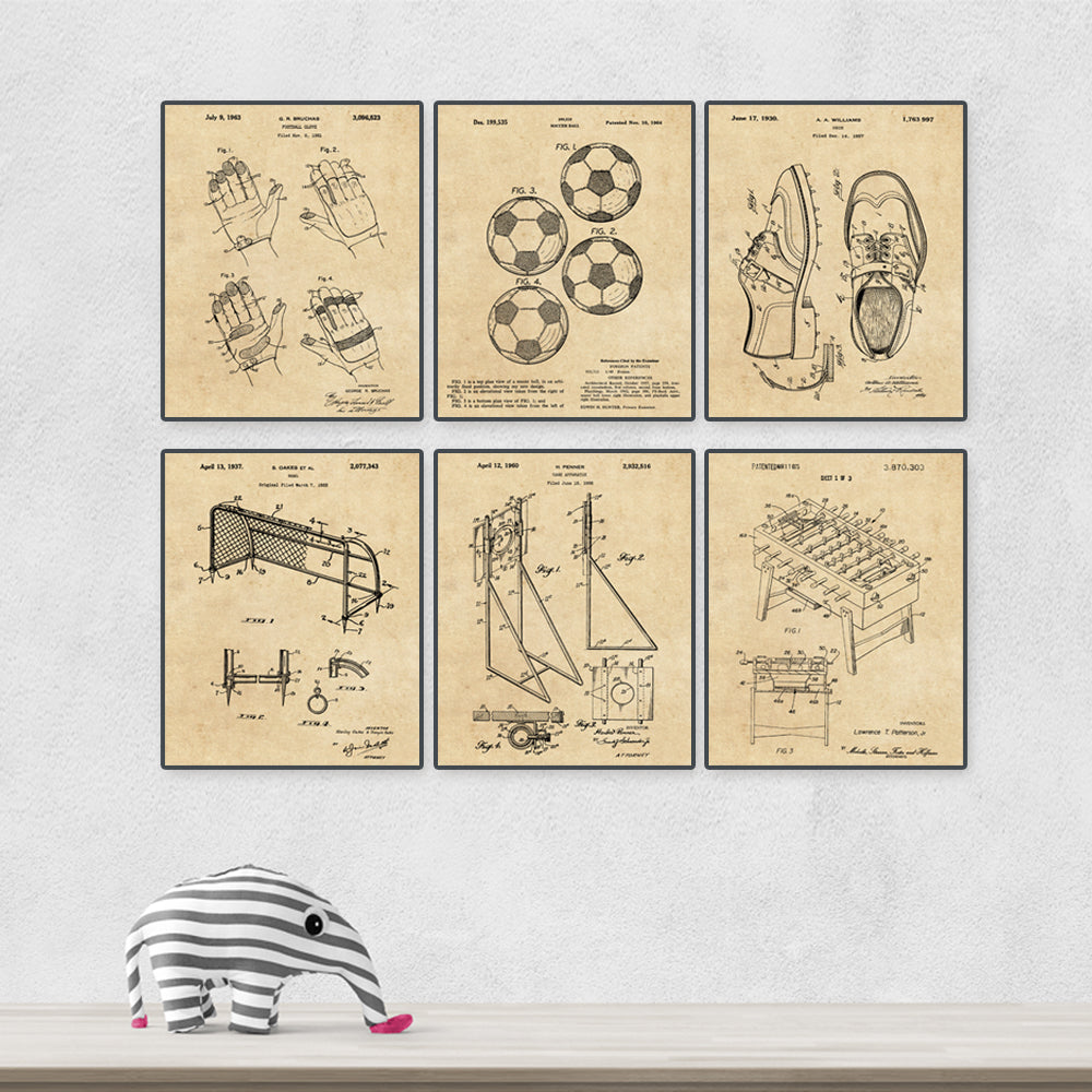 Soccer vintage patent painting (size: A4)