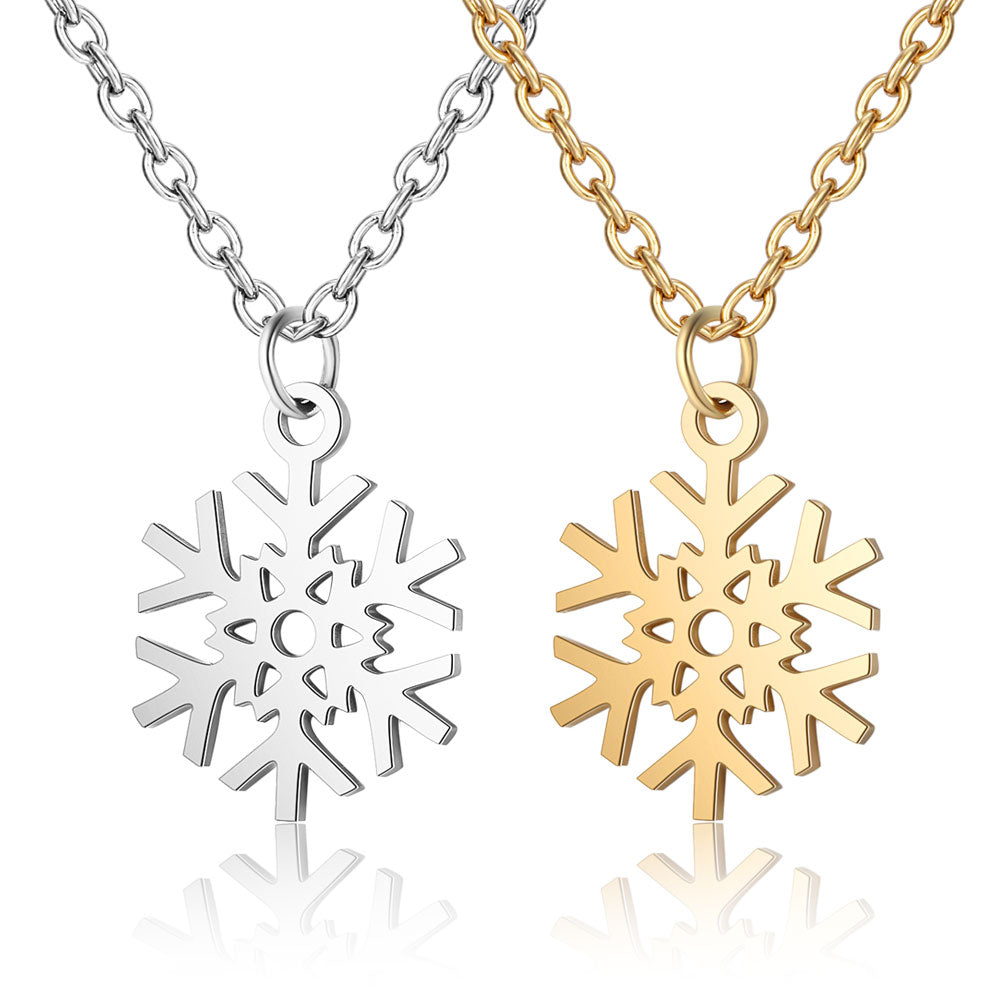 Geometric Snowflake Necklace