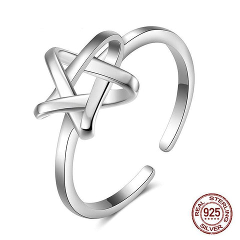 925 Sterling Silver Star Knot Ring