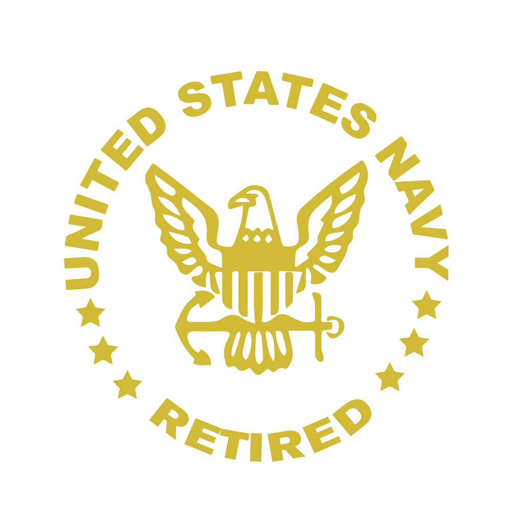 US Navy Retired Car Decal