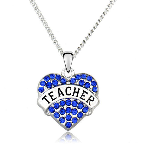 Teacher Appreciation Heart Necklace
