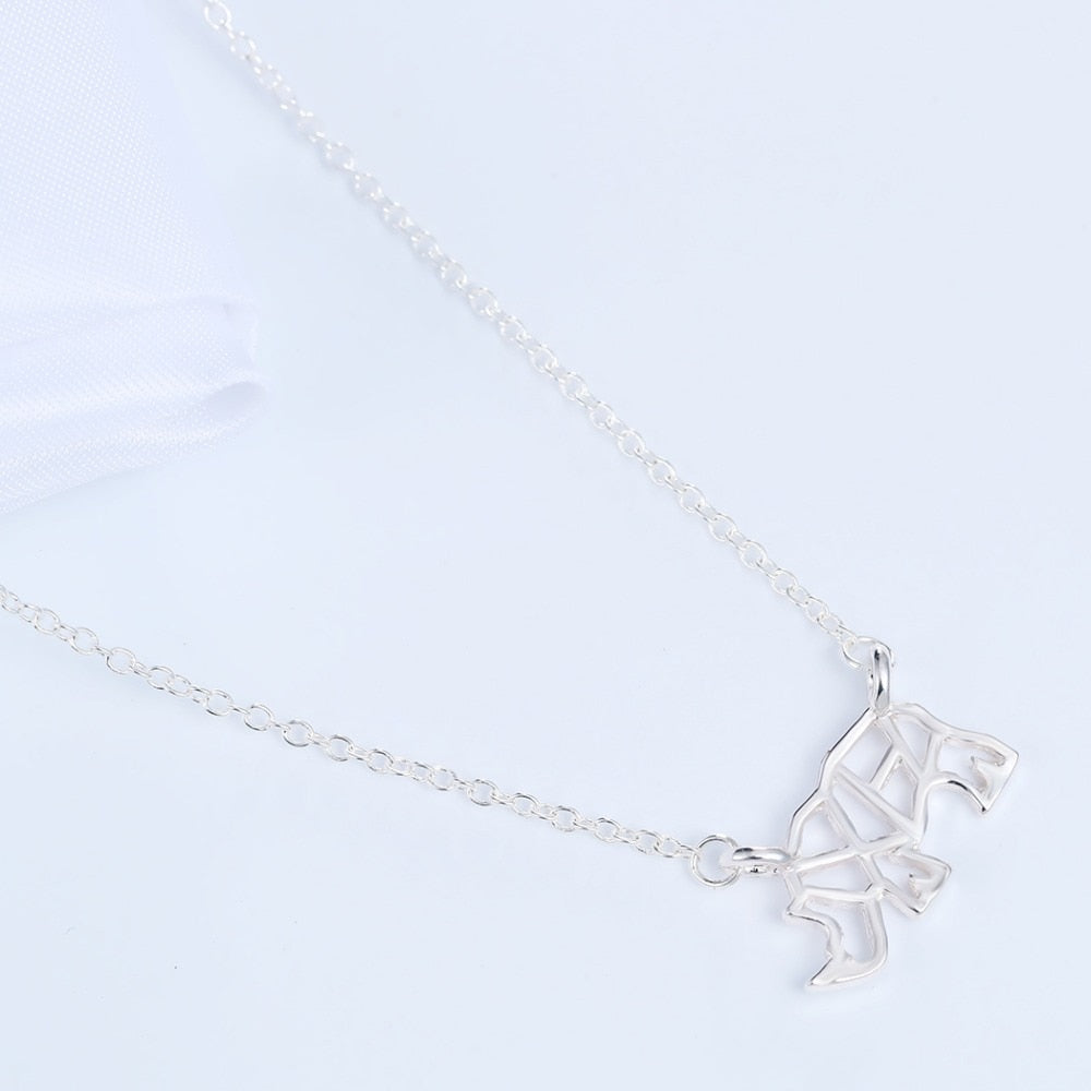 Save the Rhino Geometric Necklace
