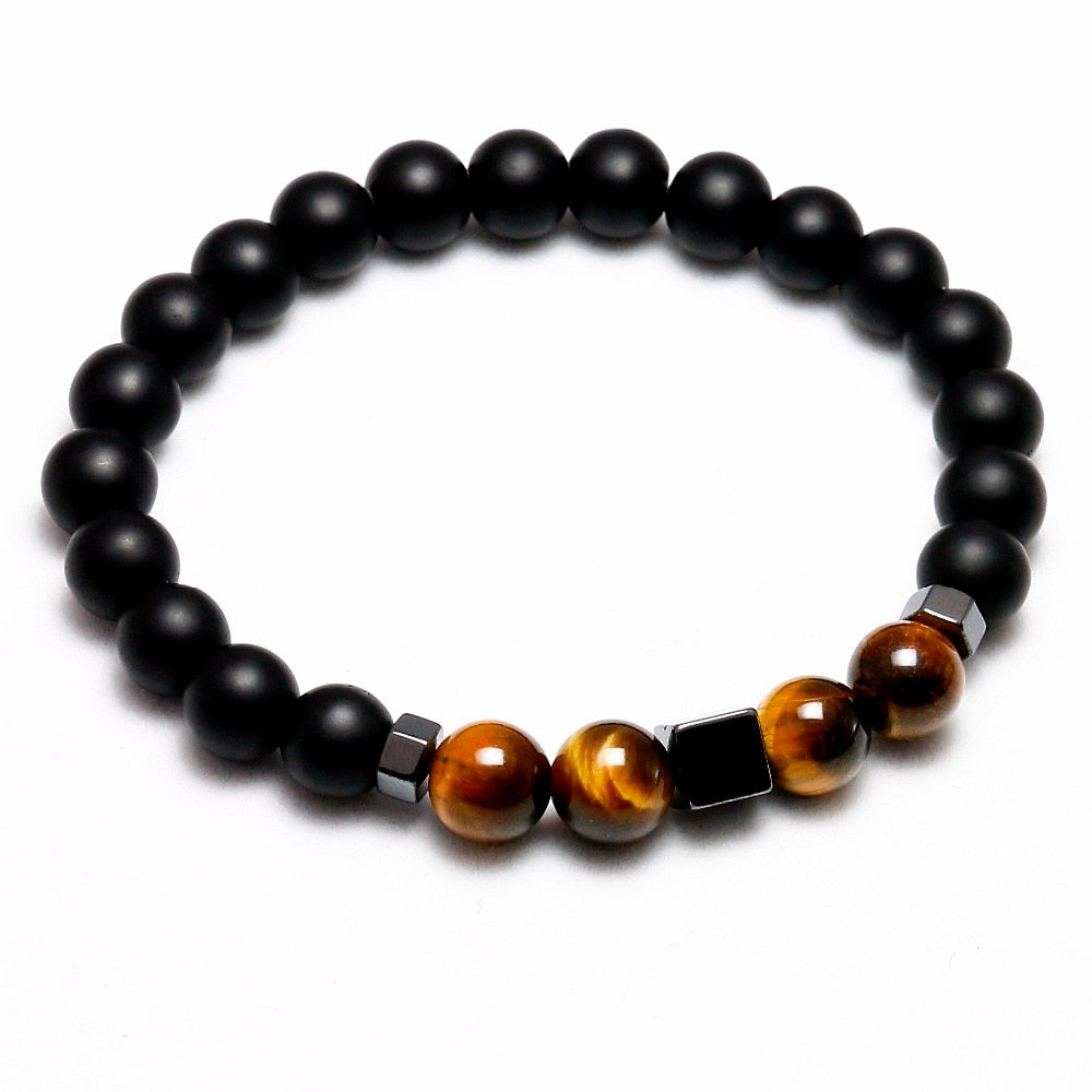 Matte Black Tiger Eye Bracelet