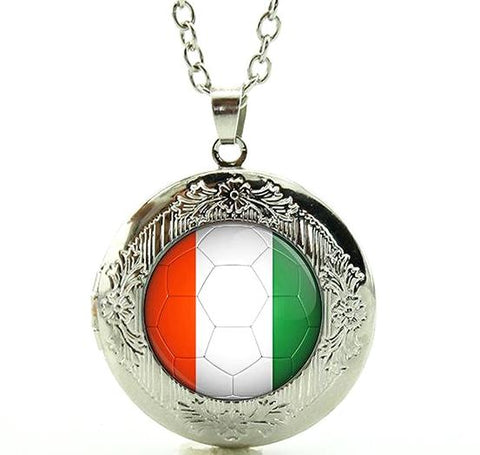 Italy Flag Locket Necklace