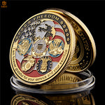 Military Veterans Support Challenge Coin