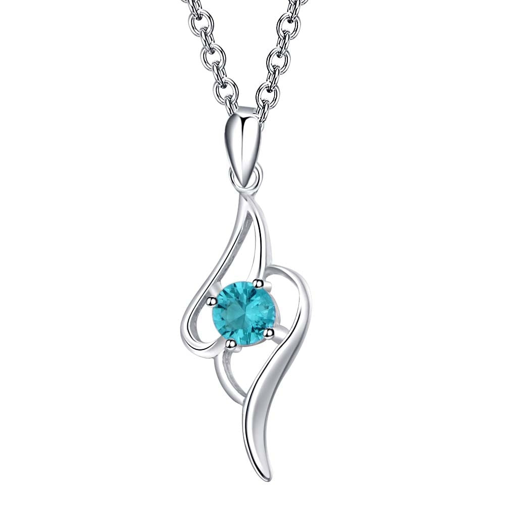 Double Blue Hearts Necklace