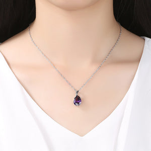 Fibromyalgia Awareness Crystal Charm Necklace