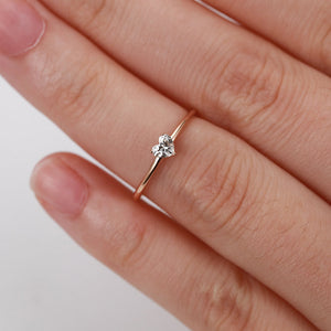 EMS Support Crystal Heart Ring