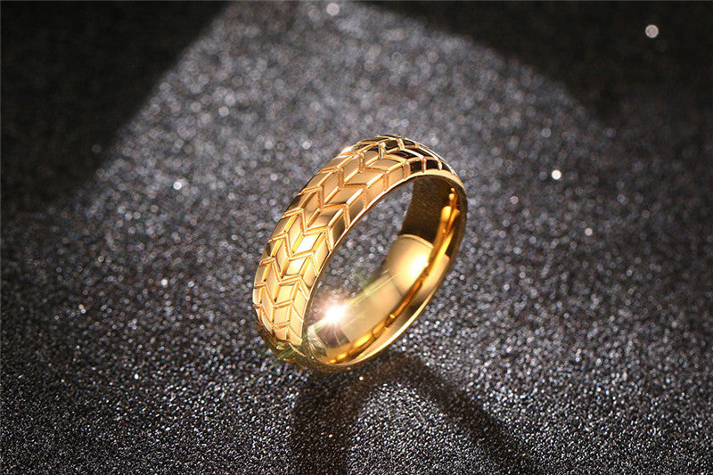 Gold Stainless Steel Truck Driver Ring Offer
