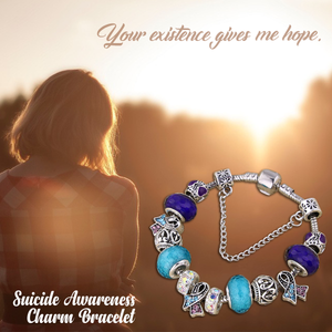 Suicide Awareness Charm Bracelet
