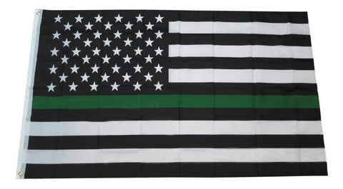 Army Green Line Flag