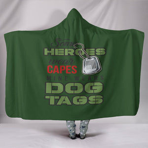 Dog Tag Heroes Hooded Blanket
