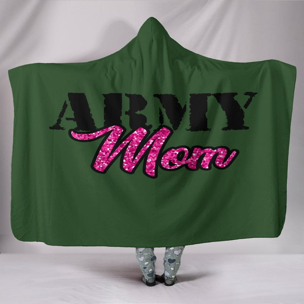 Army Mom Hooded Blanket