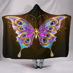Golden Butterfly Hooded Blanket
