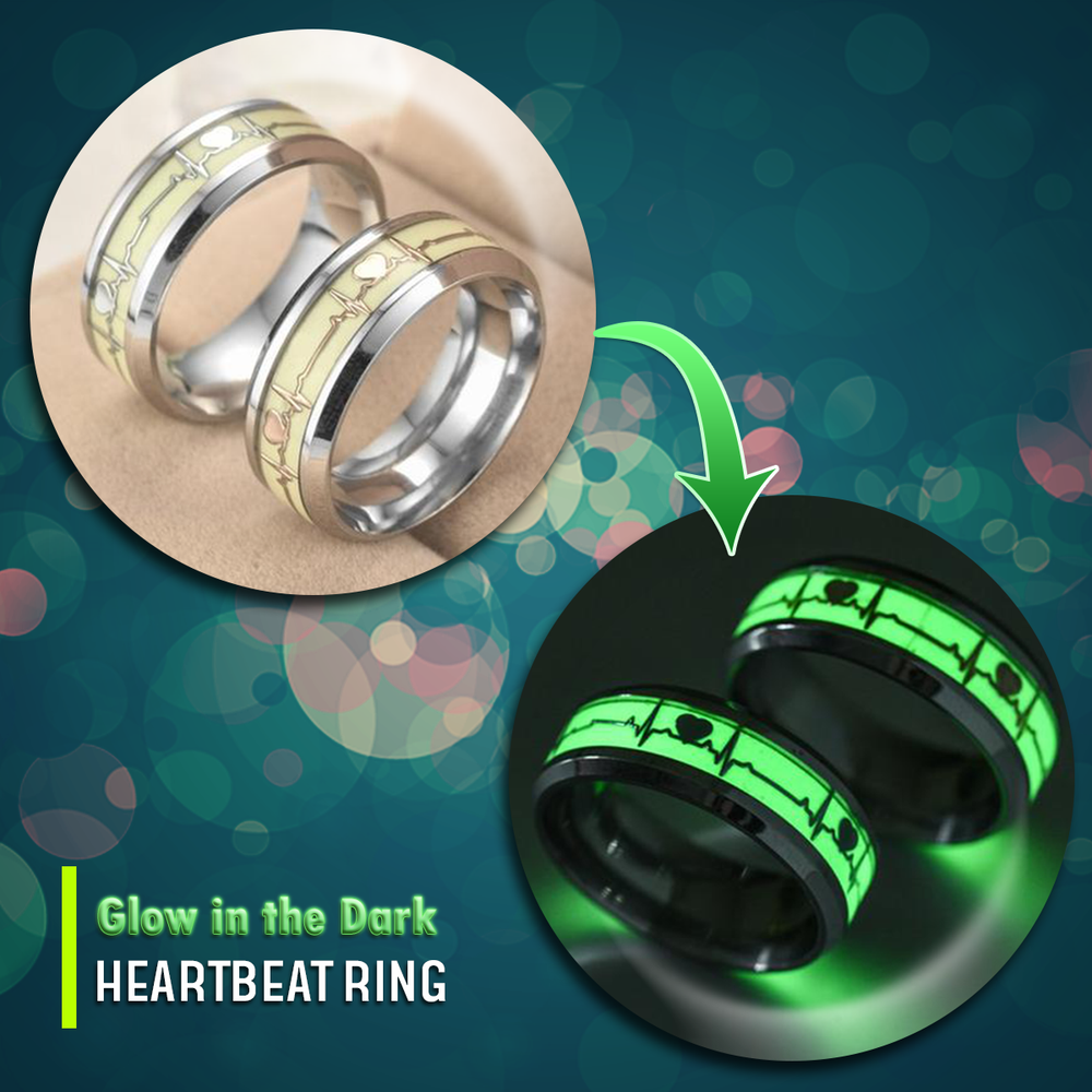 Glow in the Dark EMS Support Heartbeat Ring