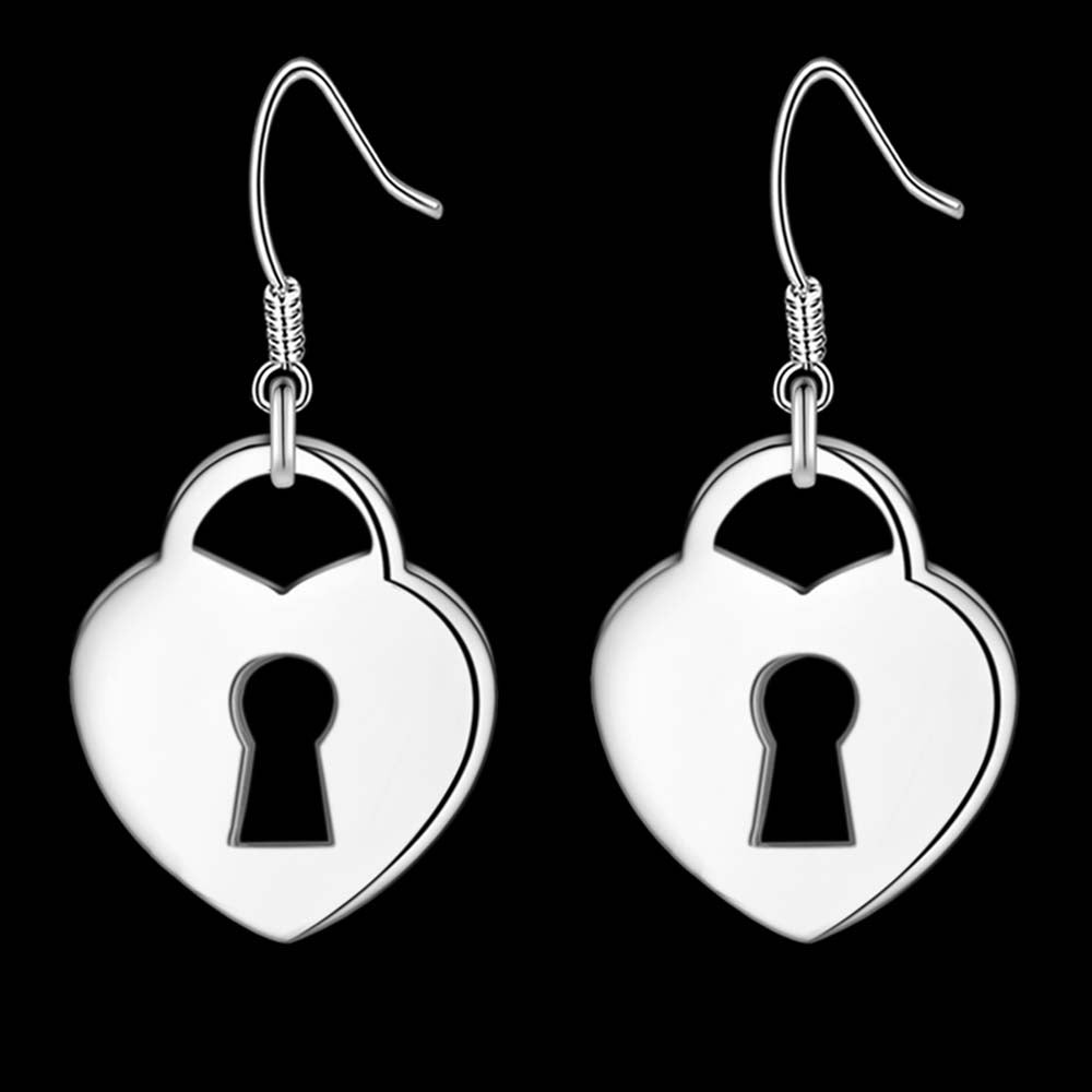 Heart Lock Earring