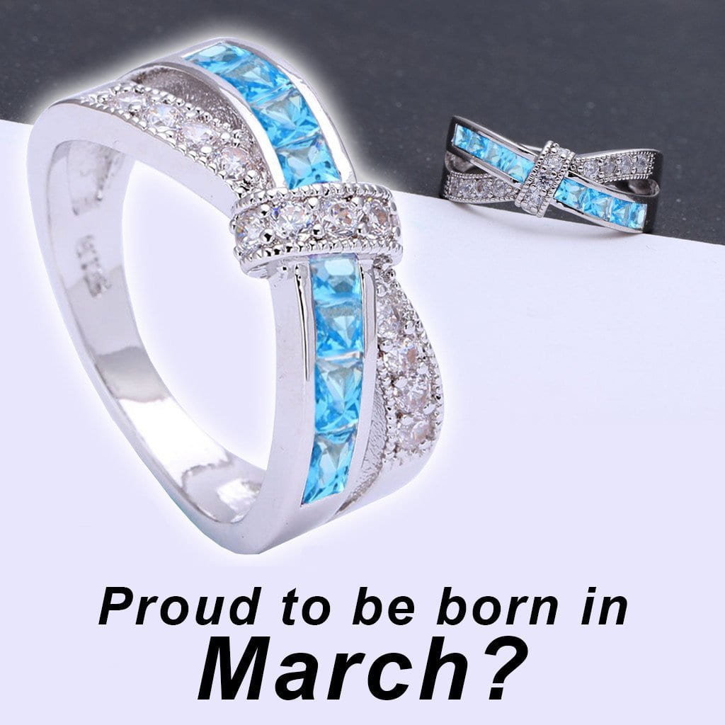 vintage diamond rings halo products and march birthstone ring aquamarine anniversary style