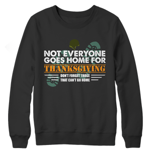 Not Everyone Goes Home For Thanksgiving Navy Sweater